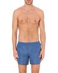 Robinson Les Bains Cambridge Swim Shorts Blue - Lyst