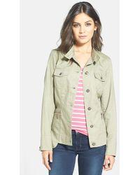 Bernardo Cotton & Linen Shirt Jacket - Lyst