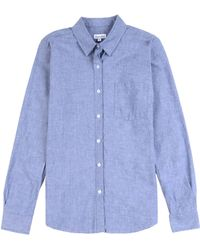 Steven Alan Chambray Reverse Seam Shirt - Lyst