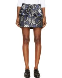 KENZO - Blue And Silver Monster Print Skirt - Lyst