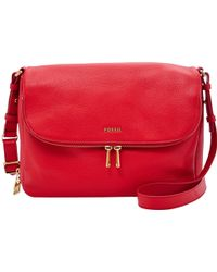 Fossil - Preston Flap Leather Bag - Lyst
