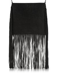 Finds  Theperfext Blair Fringed Suede Shoulder Bag - Lyst