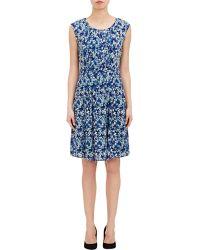 Barneys New York Pleated-Front Dress - Lyst