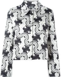 Holly Fulton - Cropped Printed Jacket - Lyst