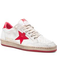 Golden Goose Deluxe Brand Men'S Ball Star Leather Sneakers - Lyst