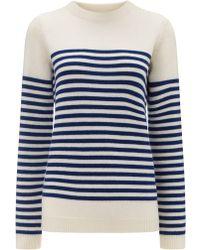 Chinti & Parker Striped Extra Fine Wool Jumper blue - Lyst