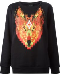 Marcelo Burlon County Of Milan Wolf Print Sweatshirt - Lyst