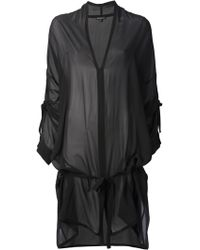 Ann Demeulemeester Sheer Dress - Lyst