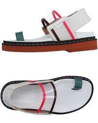 Marni Thong Sandal - White