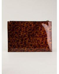 Givenchy Brown Tortoiseshell Clutch - Lyst