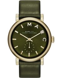 Marc By Marc Jacobs Baker Analog Watch with Leather Strap - Lyst