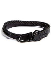 Caputo & Co. Knotted Wrap Bracelet - Copper - Black