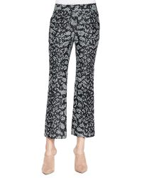 3.1 Phillip Lim Snake-print Cropped Flared Pants - Lyst