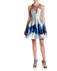 Sachin & Babi Laurel Metallic Brushstroke Dress - Lyst