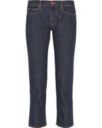 Etoile Isabel Marant Pradley Mid-Rise Straight-Leg Jeans - Lyst