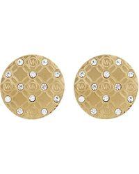 Michael Kors - Monogram Etched Stud Earrings - Lyst