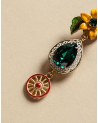 Dolce & Gabbana | Earrings With Flowers And Sicilian Cart | Lyst