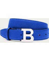 Bally B Buckle blue - Lyst