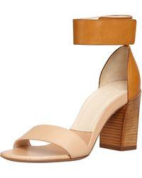 Chloé Stackedheel Anklewrap Sandal - Lyst