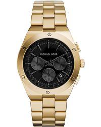 Michael Kors Reagan Golden Stainless Chronograph Watch - Lyst