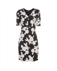 Paul Smith Black Miami Beach Floral Print Shift Dress - Lyst