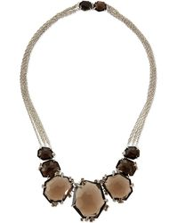 Alexis Bittar Fine - Large Smoky Quartz & Diamond Cluster Necklace - Lyst