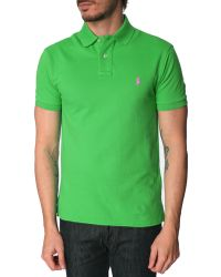 Polo Ralph Lauren Cabo Green Slim Fit Polo Shirt - Lyst
