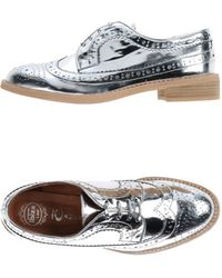 Jeffrey Campbell Lace-Up Shoes silver - Lyst