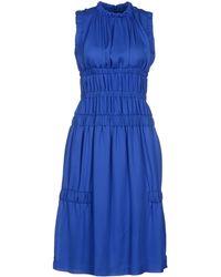 Christopher Kane Blue Kneelength Dress - Lyst