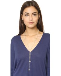Heather Hawkins - Freshwater Cultured Pearl Lariat Necklace - Pearl - Lyst