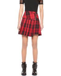 DKNY Pleated Mini Skirt - Lyst
