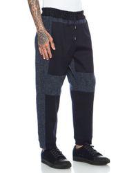 Casely-Hayford - Cranmore Paneled Drawstring Wool-blend Trouser - Lyst
