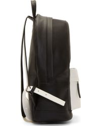 PB 0110 - Ssense Exclusive Black And White Matte Leather Small Backpack -  Lyst cb448f1b8e340