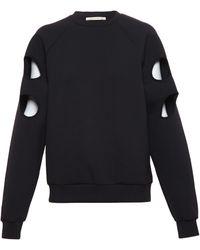Christopher Kane Stretch Technofabric Sweatshirt - Lyst