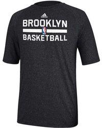Adidas Mens Brooklyn Nets Climalite Practice T-shirt - Lyst