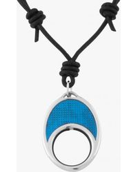 Tateossian - Enamel Crescents Spec Holder In Leather With Black And Turquoise Enamel - Lyst