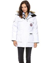 Canada Goose Expedition Parka White - Lyst