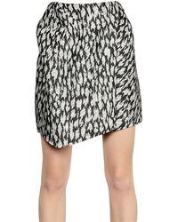Mugler Leopard Jacquard Silk Canvas Skirt - Lyst