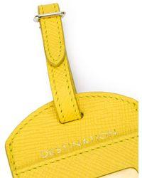 Smythson Luggage Tag - Yellow