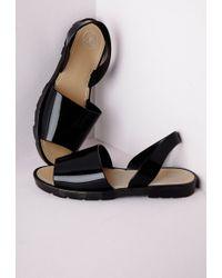 Missguided Flexi Mule Sandals Black