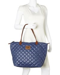 It's The Girl By Junior Drake | Blue Haven Quilted Tote | Lyst