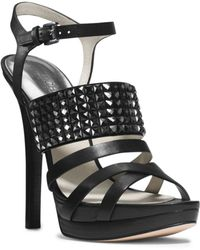 Michael Kors Arabella Leather Platform Sandal - Lyst