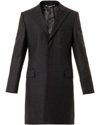 Dolce & Gabbana Single-Breasted Checked Coat - Lyst