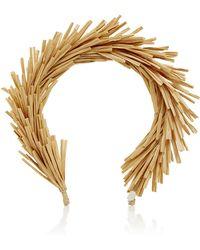 Gigi Burris Millinery Natural Raffia Headband - Brown