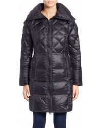 BCBGeneration Quilted Zip-front Coat - Blue