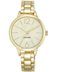 Nine West Goldtone Link Bracelet Watch - Metallic