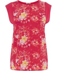 Oasis Printed Jersey Top - Lyst