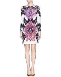 Emilio Pucci Suzani Print Shift Dress - Lyst