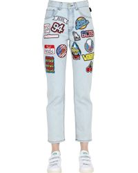 Gcds - Embroidered Patches Denim Jeans - Lyst