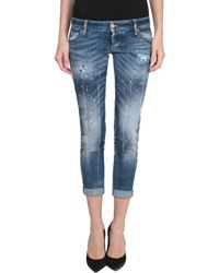 DSquared² Cotton Denim Skinny Jeans - Lyst